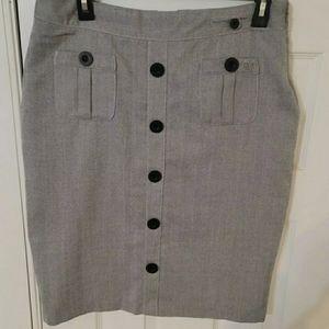 Ben Sherman Grey Pencil Skirt - S/M